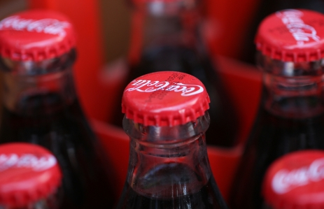 Coca-Cola bottle image via Shutterstock