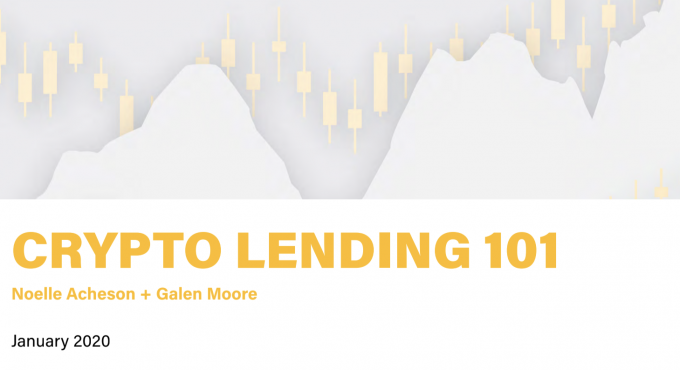 Crypto Lending 101 cover page
