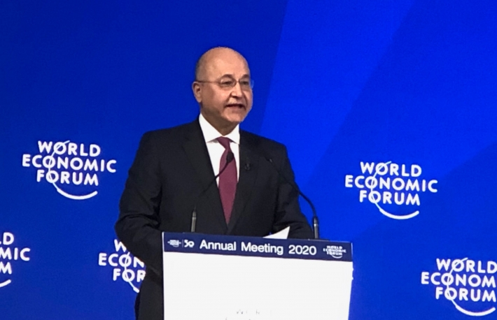 SOVEREIGNTY: At Davos, Iraqi President Barham Salih said it is his nation's right to have relations with its neighbors on its own terms. (Photo by Leigh Cuen for CoinDesk)