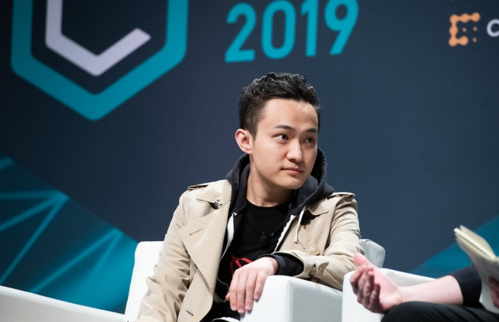 ADS_6136 Consensus 2019   Justin Sun CEO TRON,  Pete Rizzo Editor In Chief 1988,  Keynote speaker