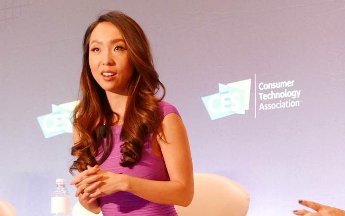 Lisa Song Sutton at the Digital Money Forum in Las Vegas (Photo by Brady Dale for CoinDesk)