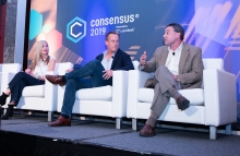 Voyager founder and CEO Steve Ehrlich (right) image via CoinDesk archives