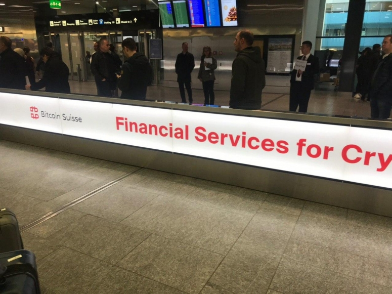 bitcoin suisse zurich airport wef 2020  photo by Michael Casey for CoinDesk