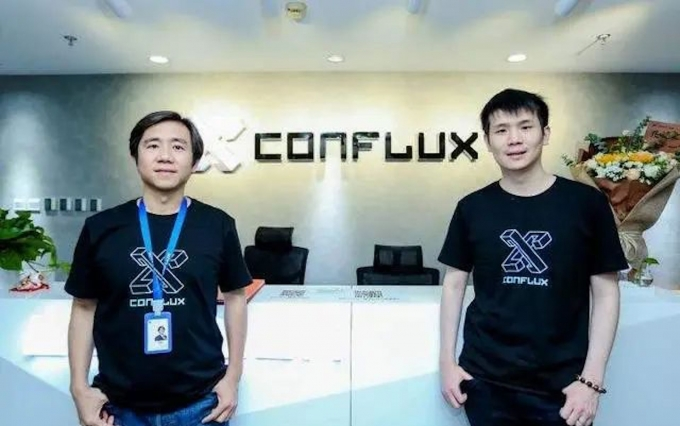 Conflux Cofounder Ming Wu and Fan Long image via Conflux