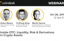 OTC trading webinar with CoinDesk Research: Martin Garcia from Genesis Trading and Yinfeng Shao from Reciprocity and Circle