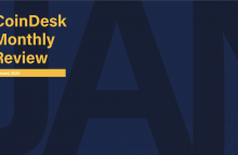 Cover slide of CoinDesk Research's quarterly review for January 2020; we look at metrics measuring bitcoin adoption, exchange tokens, SEC enforcement actions and top-performing crypto assets of January 2020.