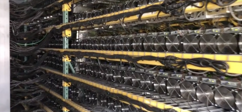 Photo from Coinmint's bitcoin mine in Massena, New York, believed to be the largest in North America