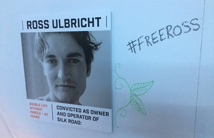 Wanted poster of Ross Ulbricht, ADK Dread Pirate Roberts