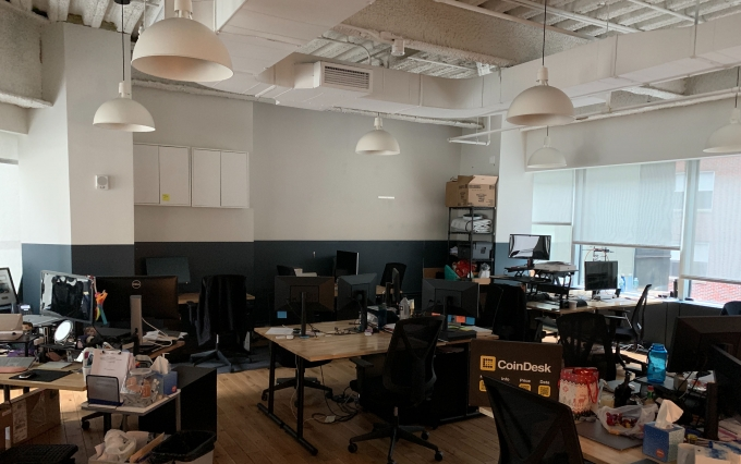 CoinDesk office, empty