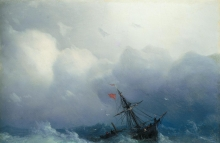 Ivan Aivazovsky  (1817–1900) Blue pencil.svg wikidata:Q181568 s:hy:Հեղինակ:Հովհաննես Այվազովսկի q:hy:Հովհաննես Այվազովսկի Title	 Shipwreck on Stormy Seas  https://commons.wikimedia.org/wiki/File:Ivan_Konstantinovich_Aivazovsky_-_Shipwreck_on_Stormy_Seas,_1886.jpg