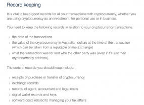 how should i report cryptocurrency tax australia