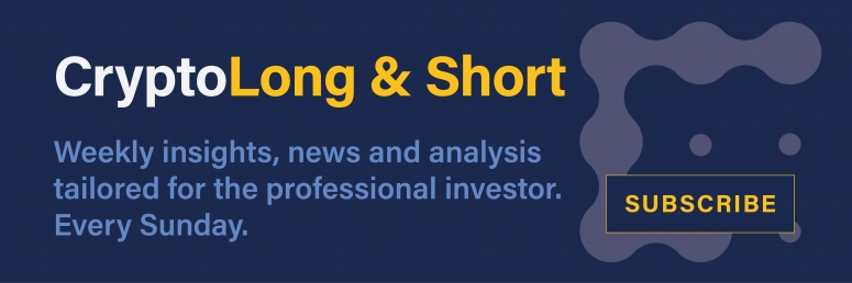 Ad for the crypto newsletter aimed at professional investors, Crypto Long & Short