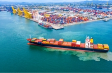 SHIPPING: OneConnect, the SoftBank-backed fintech wing of Ping An Insurance, is building a system to track custom services, port operators, logistics companies, financial institutions and export and import firms on a blockchain system. (Credit: Shutterstock)