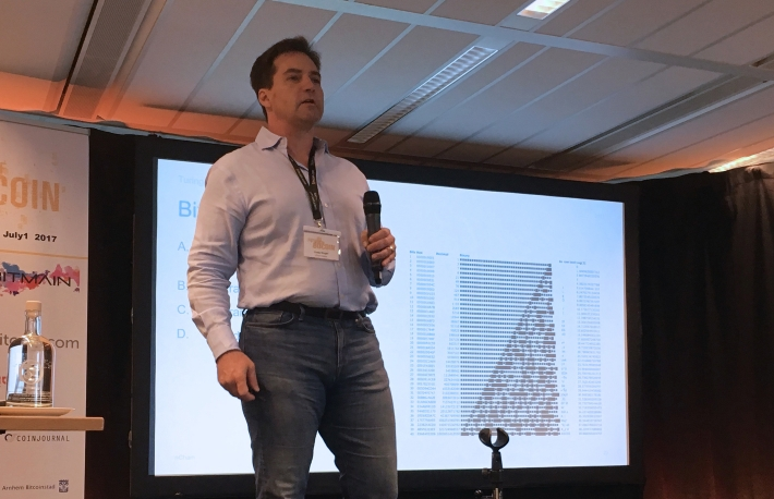 Craig Wright, the surprise guest at The Future Of Money, Arnhem,The Netherlands, 2017.