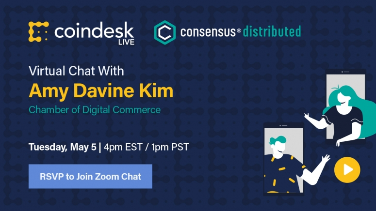 CoinDesk Live: Lockdown Edition continues its popular twice-weekly virtual chats via Zoom and Twitter, giving you a preview of what's to come at Consensus: Distributed, our first fully virtual – and fully free – big-tent conference May 11-15.   Register to join our sixth session Tuesday, May 5, with speaker Amy Davine Kim from the Chamber of Digital Commerce to discuss upcoming guidelines from the Financial Action Task Force, most notably the Travel Rule, hosted by Consensus organizer Aaron Stanley. Zoom participants can ask questions directly to our guests.