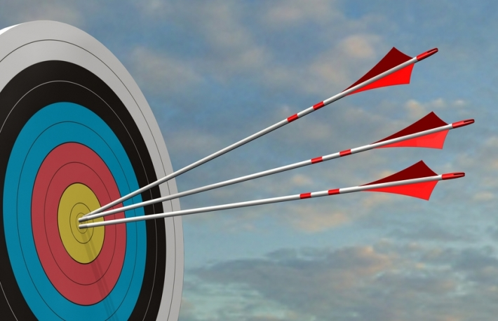 https://www.shutterstock.com/image-illustration/target-arrows-three-bow-middle-3d-700001965