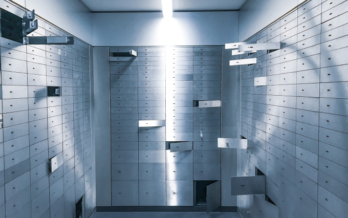 Bank vault, custody
