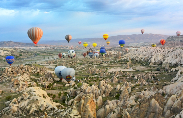 Turkey, hot air balloons