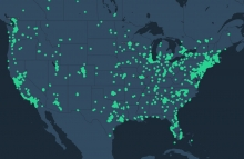 Helium network map of United States