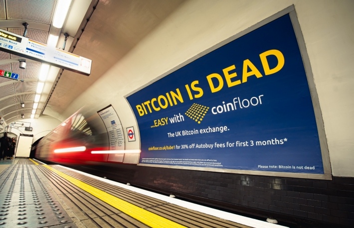 Bitcoin Exchanges Flood London's Metro With Adverts