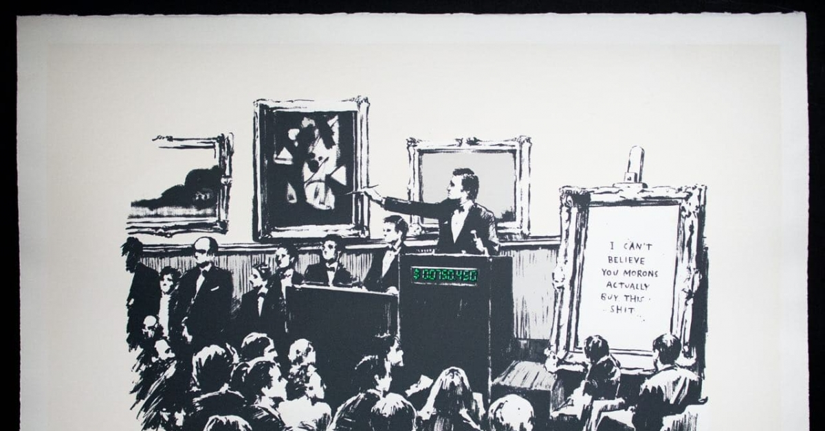 Banksy Work Physically Burned and Digitized as NFT in Art-World First -  CoinDesk