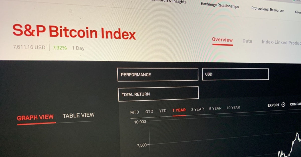 S&P Goes Live With Bitcoin, Ethereum Crypto Indexes - CoinDesk