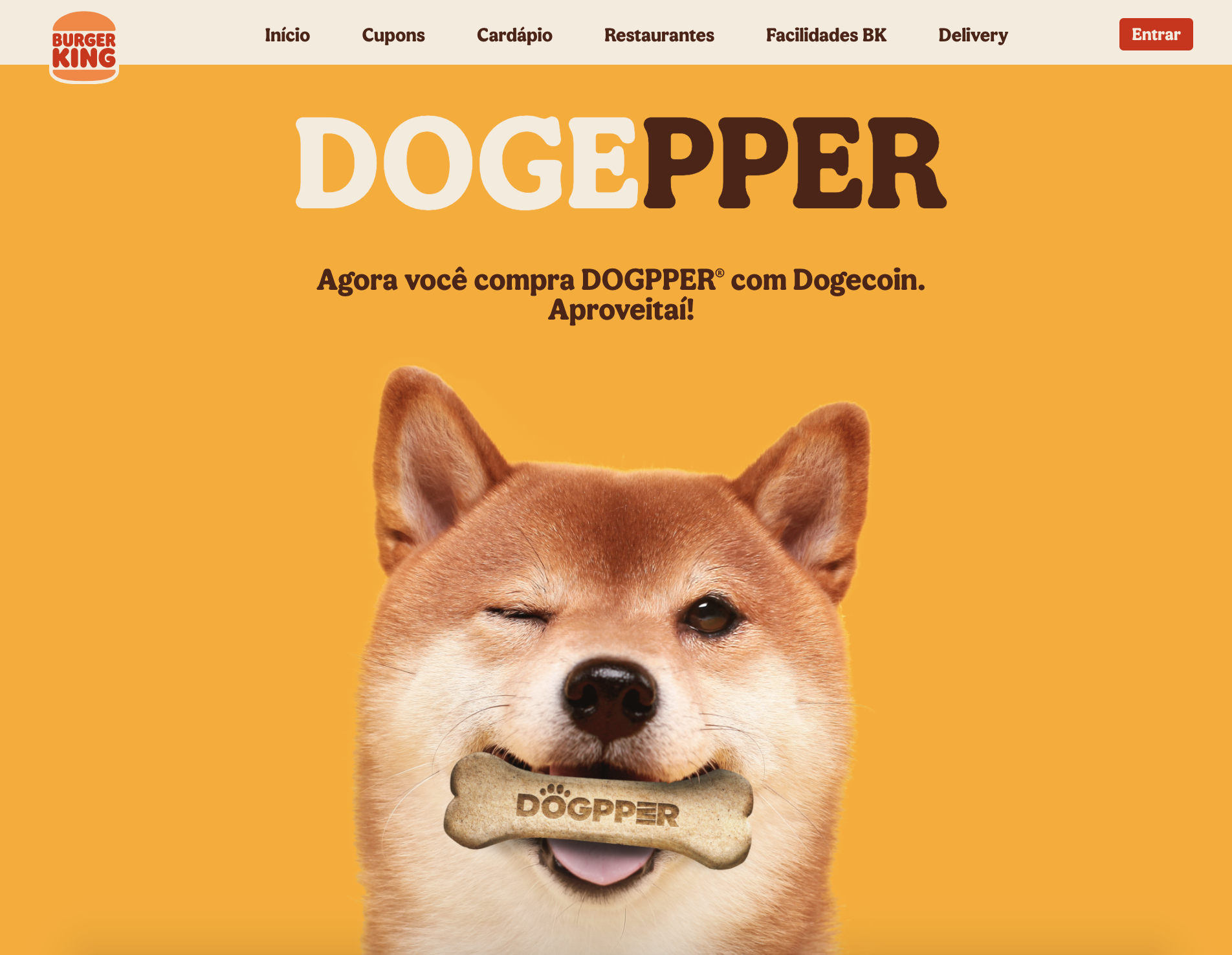 Burger King Brazil Will Accept Dogecoin for 'Dogpper' Dog Food