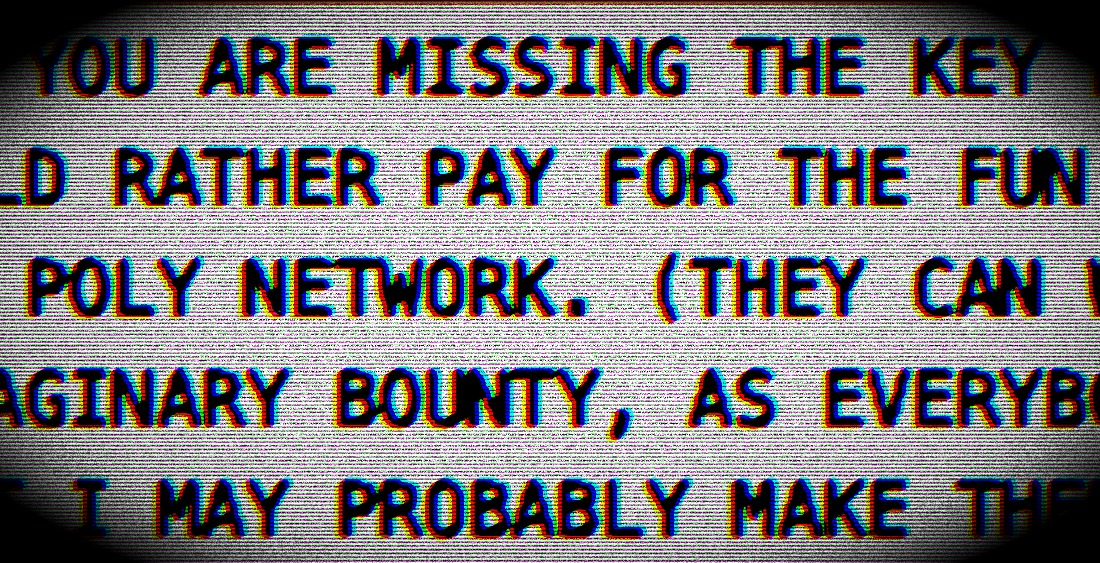 Poly Network Hack Not Over as Attacker Prolongs Return of Funds