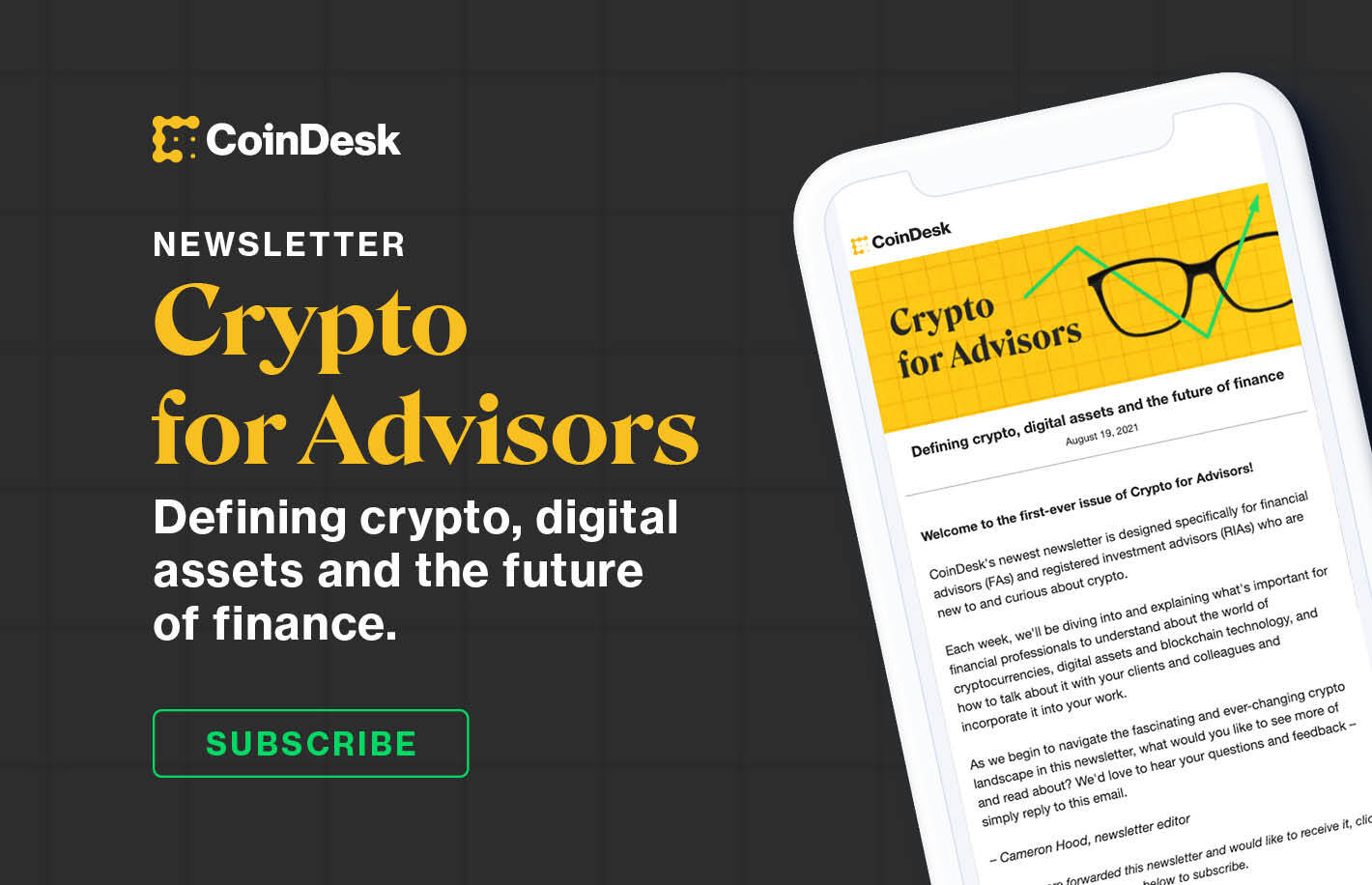Introducing Crypto for Advisors, a Newsletter for Financial Planners